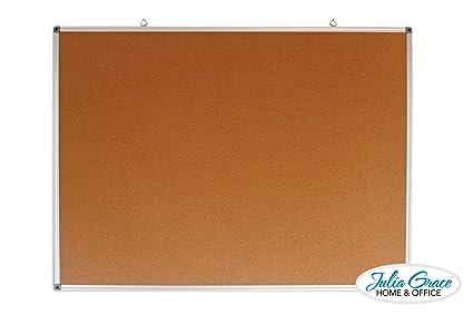 Amazoncom Large Cork Board 48 X 36 Inches Silver Aluminium