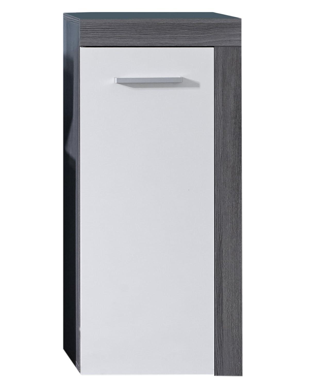 Furnline Miami Bathroom Cabinet, Smoky Silver/White Melamine 125980203