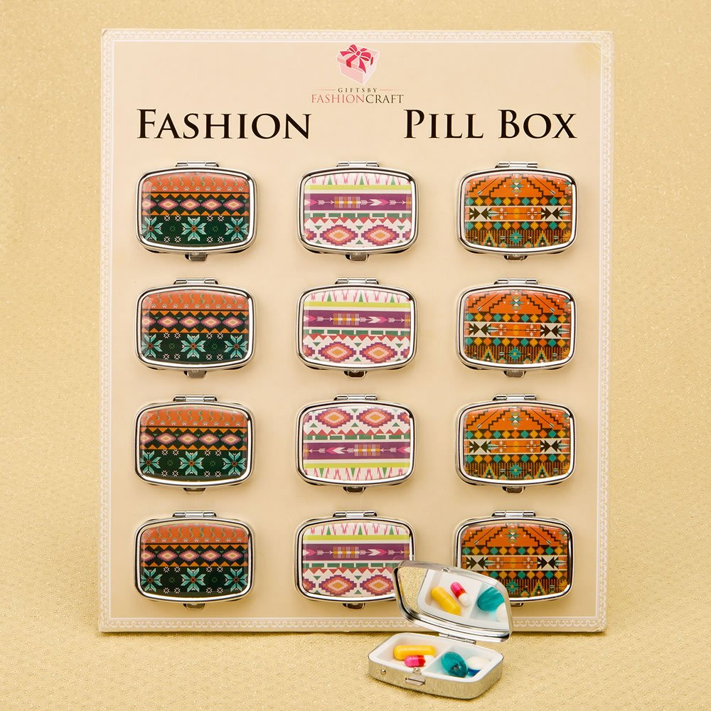 60 Stylish Aztec Pill Boxes by Fashioncraft