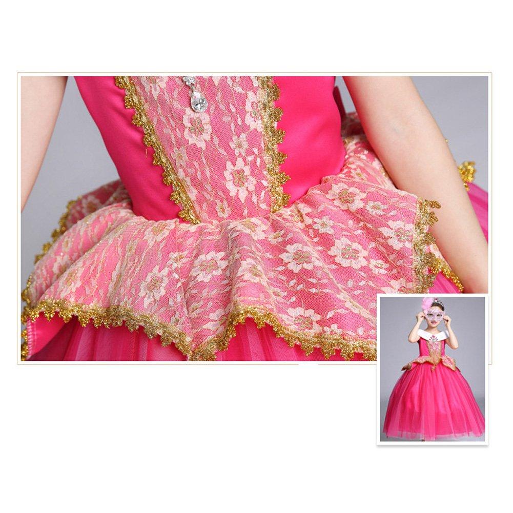OBEEII Vestidos Niña Princesa Disfraz Cosplay Traje Largo para Holloween Fiesta de Navidad Boda Gala De Ceremonia Noche Cumpleaños 4-12 Años: Amazon.es: ...