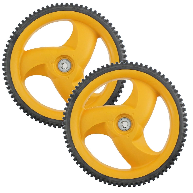 Hinterrad & Reifen für FLYMO McCulloch Rasenmäher M 53-675DWA (2 Stück)