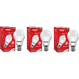 Eveready Base B22 9-Watt LED Bulb (Pack of 3, Cool Day White Light)