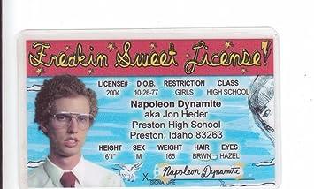 License Napoleon Novelty Jon Aka I Heder Amazon Identification Fake com Automotive Drivers Dynamite d