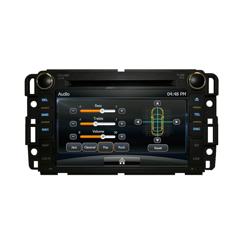 Amazon com gmc sierra 2007 2013 k series in dash bluetooth am fm radio gps navigation touchscreen dvd mp3 mp4 multimedia system his unit will fit gmc