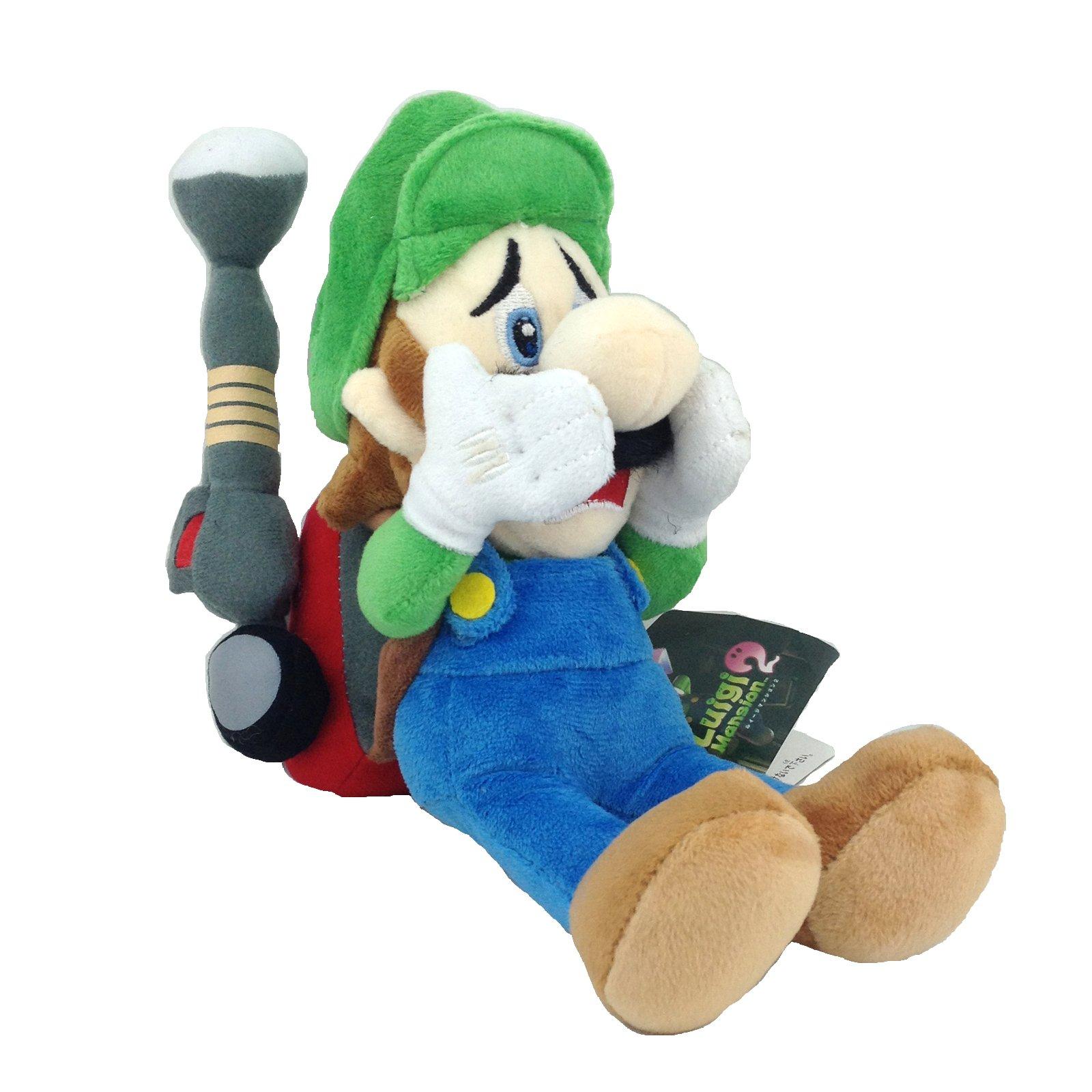 Generic Luigi's Mansion 2 Luigi Super Mario Bros Character Plush Toy Stuffed Animal with Vacuum Soft Figure Doll 9'' by Generic