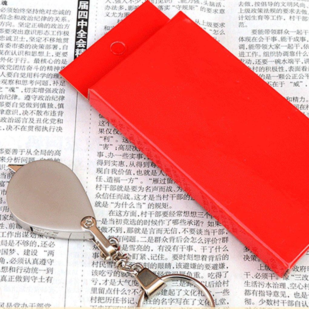 KLEDDP 10 10 10 Mal Metall Schlüsselanhänger Lupe Faltbare Tragbare Lupe Glaslinse Lupe lesen 58f48d