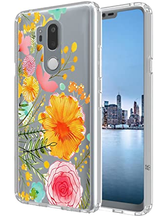 amazon com lg g7 thinq case swoders flower clear design shock