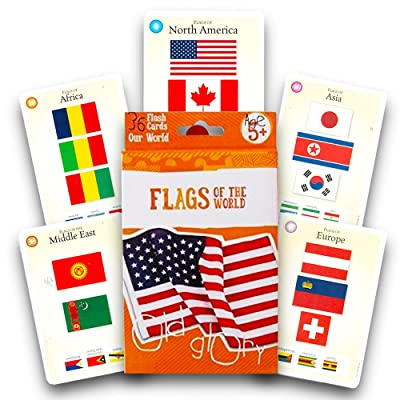 Bendon Flags of the World Flash Cards - 36 Count