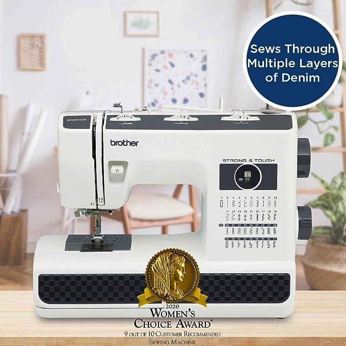 Brother ST371HD - Máquina de coser (Negro, Blanco, Máquina de coser automática, Costura, 1 paso, 4 mm, 800 RPM): Amazon.es: Hogar