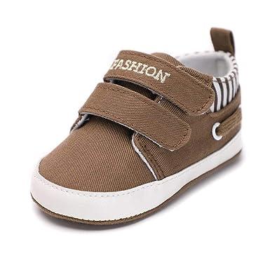 62d6ea2acd814 Amazon.com | Infant Babies Boy Girl Shoes Sole Soft Canvas Solid ...