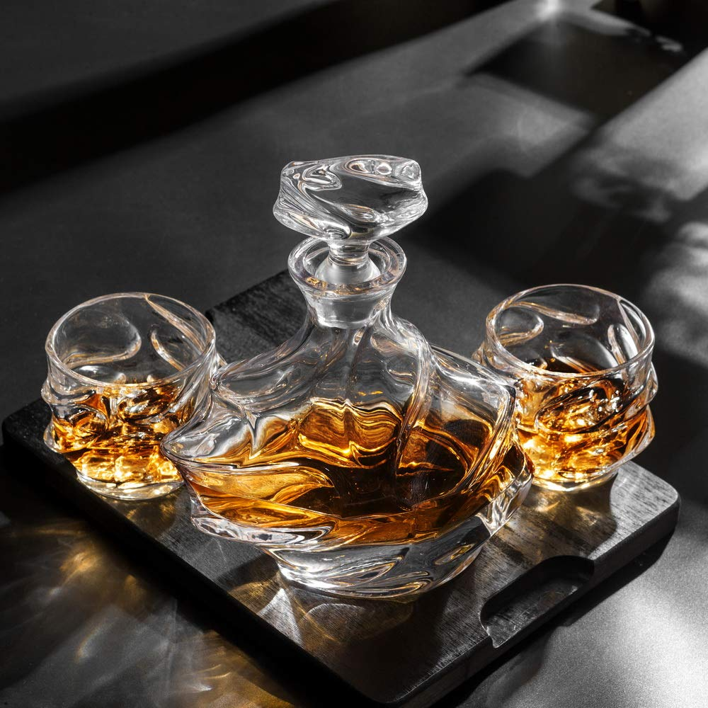 KANARS Emperor Whiskey Decanter And Glasses Set With Luxury Gift Box For Scotch + Bourbon + Liquor, 5-Piece, Original by KANARS (Image #10)