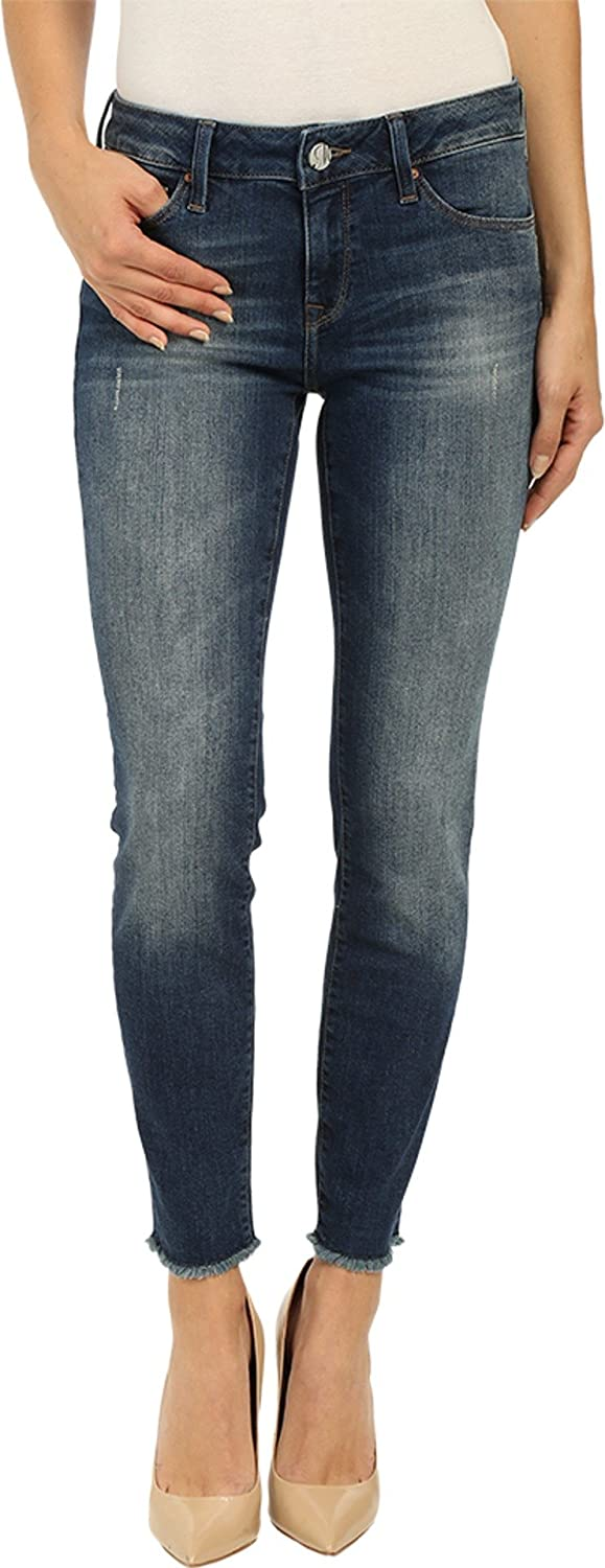 Mavi Jeans Womens Adriana Ankle in Dark Used Tribeca