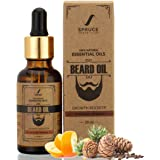 Spruce Shave Club Beard Growth Oil (30ml) - Cedarwood & Mandarin - 10 Natural Oils For Beard Growth