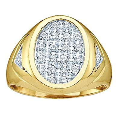 Amazon.com: 0,25 quilates (quilates) Oro Amarillo De 14 K ...