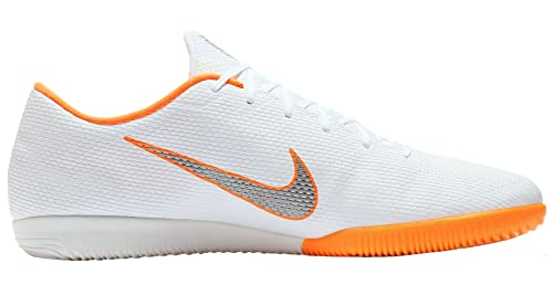 Nike Mercurial Vapor 12 Academy IC, Zapatillas de Fútbol para Hombre, Blanco (White/Chrome-Total O 107), 47.5 EU: Amazon.es: Zapatos y complementos