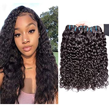 Amazon Com Wet And Wavy Human Hair Weave 3 Bundles 12 Inch