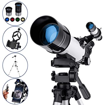 MAXLAPTER Refractive Astronomy Telescope, HD High Magnification, Dual-Use,  Suitable for Adults or Children Beginners, Portable, Equipped with Tripod,