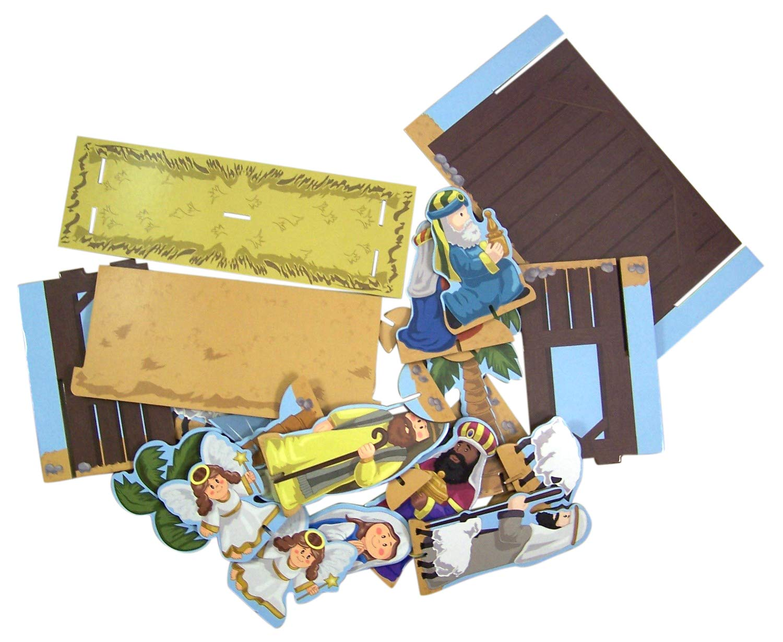 Westman Works Chipboard 23 Piece Christmas Tabletop Manger Nativity Set