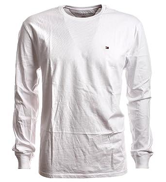 919f3cb11ea1 Tommy Hilfiger - T-Shirt à Manches Longues - Homme Blanc White L ...