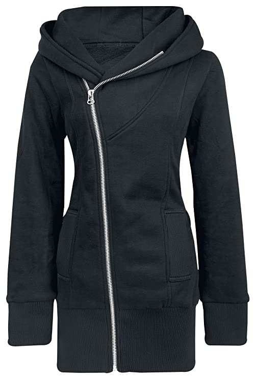 Forplay Zip Case Chaqueta con capucha Mujer Negro dWrog