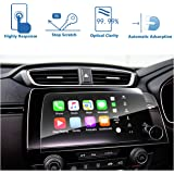 LFOTPP Glass Screen Protectors compatible with 2017 2018 Honda CRV Trapezoid Car Navigation Premium Tempered Glass Screen Protector [High Clarity] for CRV 7 inch in-Dash Center Navigation Screen Display Anti Scratch, Practical &Affordable [7 inch]