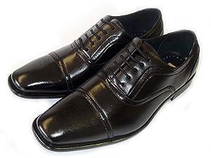 NEW DELLI ALDO MENS LEATHER LACE UP OXFORDS CAP TOE DRESS SHOES M19006 /BLACK (12)