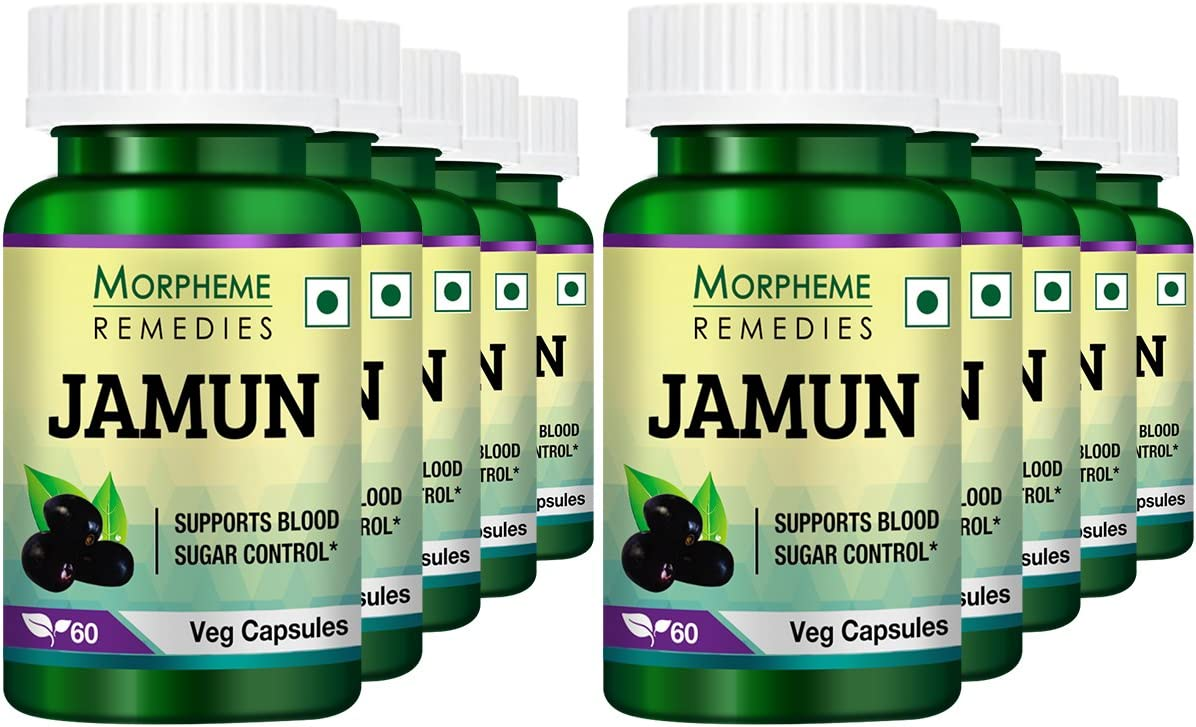 Morpheme Jamun 500mg Extract 60N Veg Caps Pack of 10