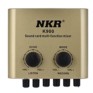 ammoon Tarjeta de sonido externa multifuncional digital con ...