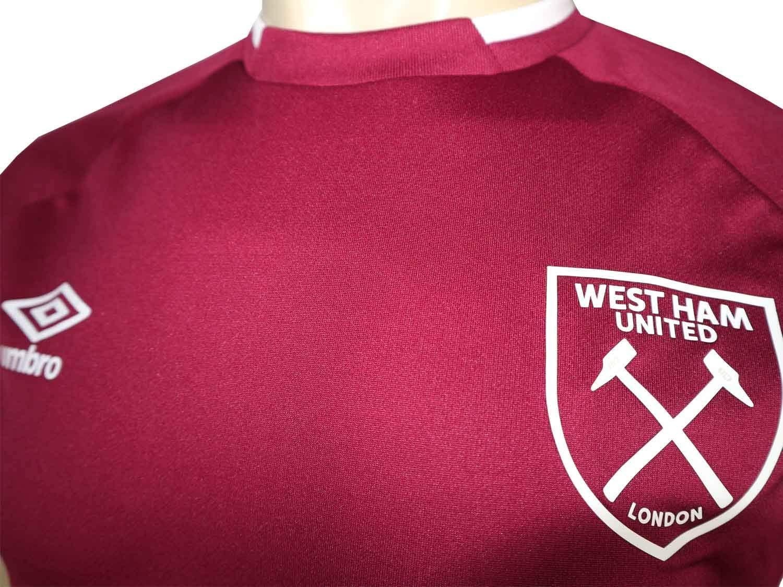 UMBRO - Camiseta de fútbol del West Ham United, Color Rojo: Amazon ...