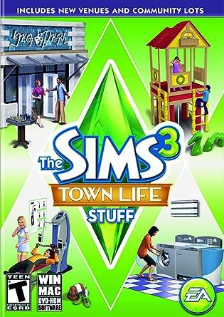 Amazon Com The Sims 3 Town Life Stuff Pc Mac Video Games
