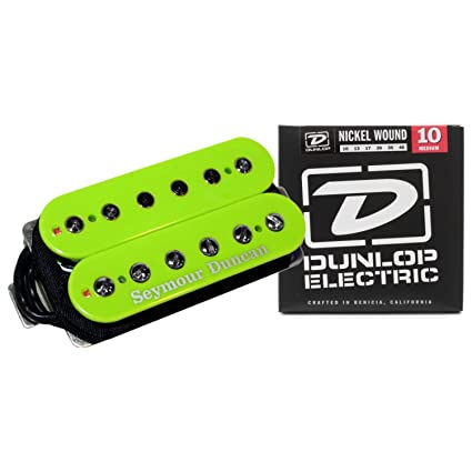 Seymour Duncan SH-4 JB Humbucker Guitar Pickup Green Custom w/ Strings