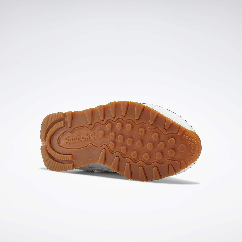 Reebok Women's CL LTHR L Track Shoe White/Gum