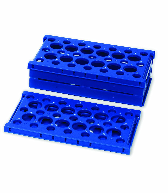 255/mm Lunghezza x 137/mm larghezza x 72/mm altezza blu in polipropilene robusto confezione da 2 Heathrow Scientific HD24320B rack pop-up