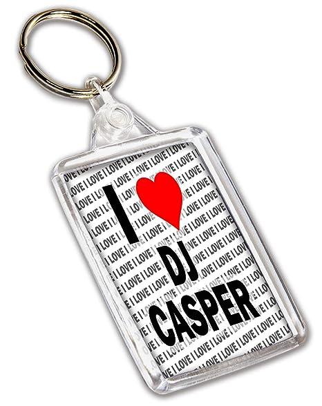 I Love DJ Casper Llavero - Regalo - Cumpleaños - Navidad ...