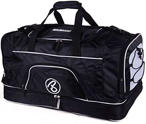 2b8e57ccc7e BRUBAKER Big Base XX-Large Gym Sauna Bag with Shoe Compartment - 25 Inches -