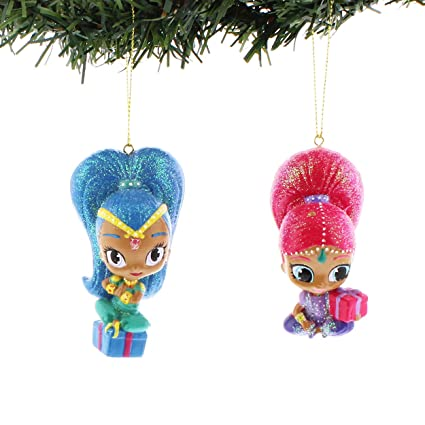 kurt adler 35 inch shimmer and shine christmas ornament set of 2