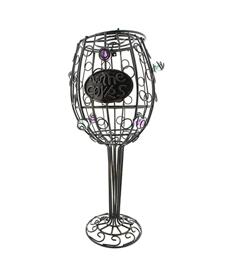 Decorative Wine Glass Wire Cork Display Holder 12in Container 45 Capacity Cork Collector Countertop Catcher Cage