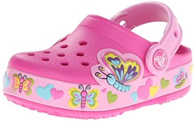 d8beb83dc4b0fc crocs Kids  Butterfly PS Light-Up Clog (Toddler Little Kid)
