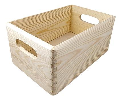 Caja de madera/caja de madera, aprox. 30 x 20 x 14 cm