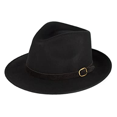 df49e263fbfc2b Men's Ladies Handmade Fedora Hat Made In Italy 100% Wool Felt With Leather  Band -