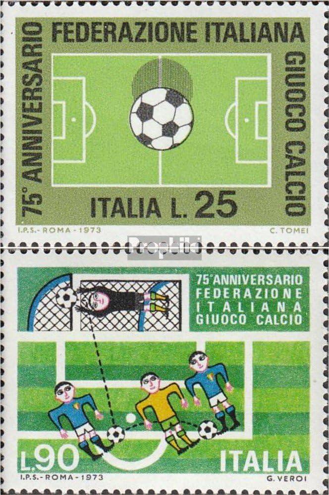 1973 Italiano Calcio Francobolli per i Collezionisti Completa Edizione Prophila Collection Italia Michel.-No..: 1404-1405 Calcio