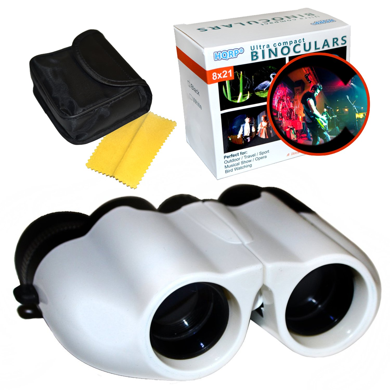 HQRP 8 x 21 UCF Porroプリズムホワイト双眼鏡for Musical ShowコンサートFairs FestivalサーカスパレードアウトドアRaces Back行のAuditorium B01BMMXVHS
