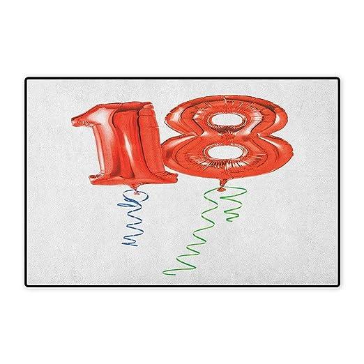 Alfombra pequeña para Puerta de cumpleaños 17, diseño de ...