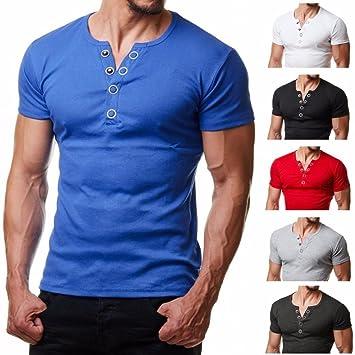 Camisa de Hombre Manga Corta Camisas de Vestir Slim Fitness Tops Camisetas Blusa de botón Camisa de Polo de Corte Camiseta Térmica de Compresión Pollover ...