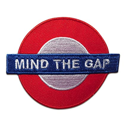 Parches - Mind The Gap Underground Londres - rojo - 7,5x6 ...