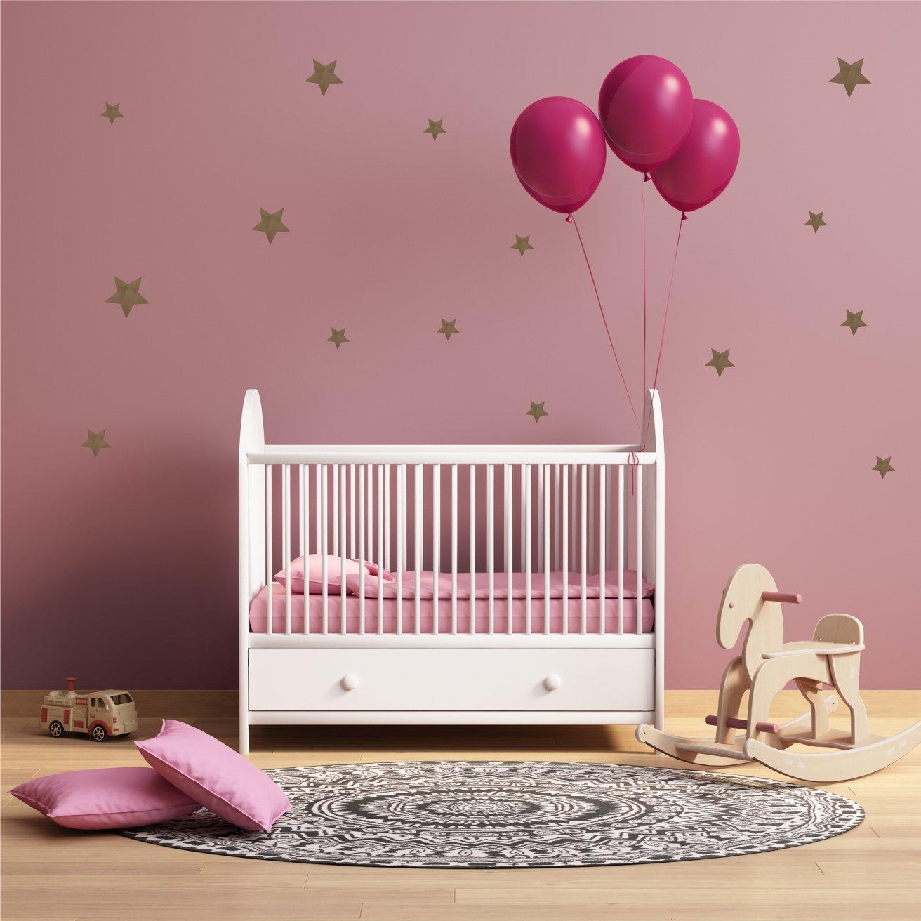 greenluup Wandsticker Wandaufkleber 108 Herzen in Weiß Kinderzimmer Babyzimmer Wanddekoration