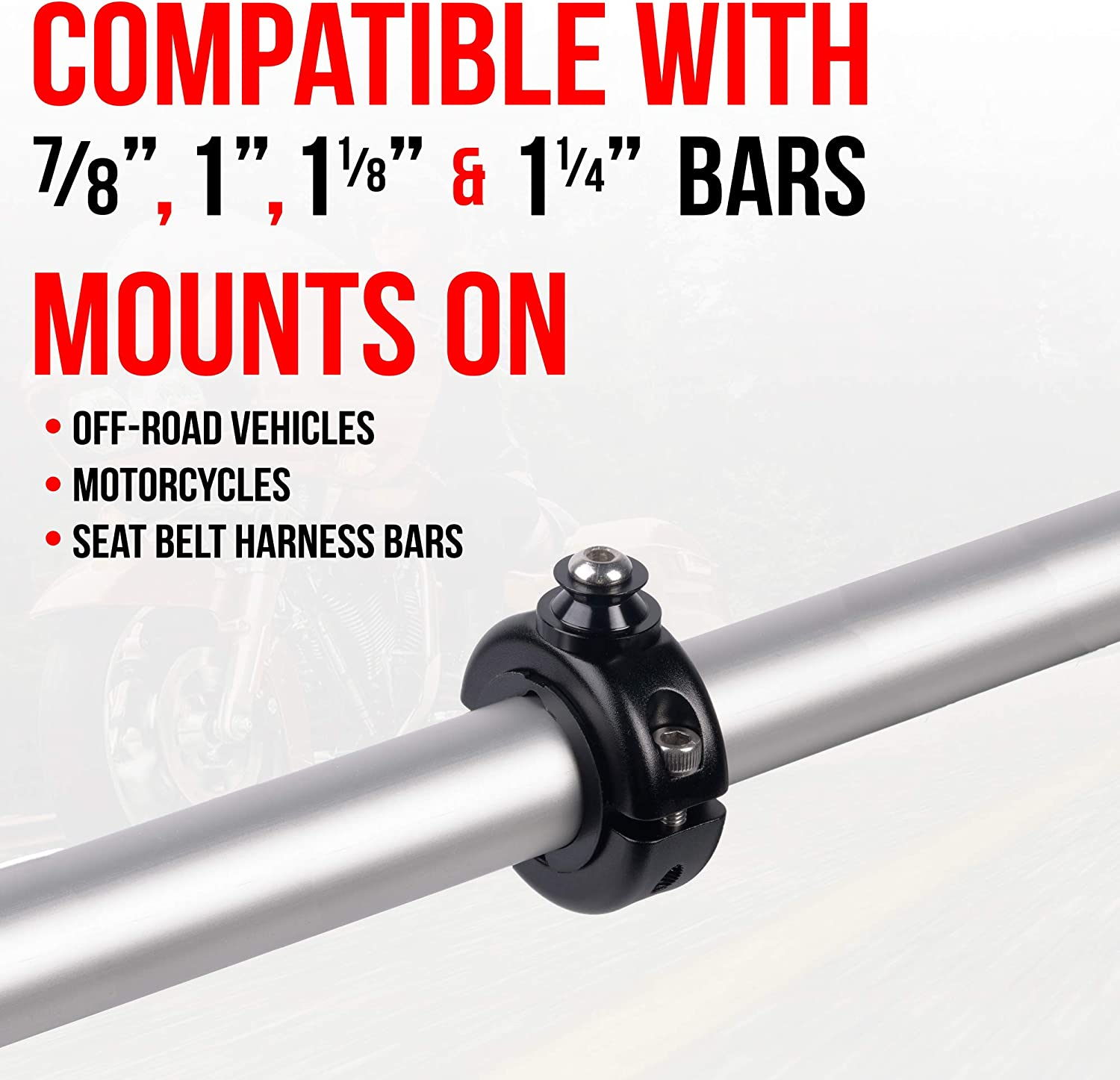 All Metal Tackform Motorcycle Action Camera Mount - Built to Outlast You. Enduro Series Bar Mount and Trail Cam Compatible with GoPro and Other Action Cameras