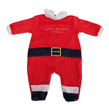 03cc882fa3f76 Grenouillère déguisement de Père Noël - Bébé unisexe (12 mois) (Rouge)
