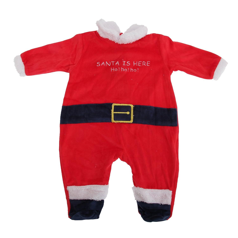 Mono / traje entero de Papá Noel unisex para bebé (6 meses ...