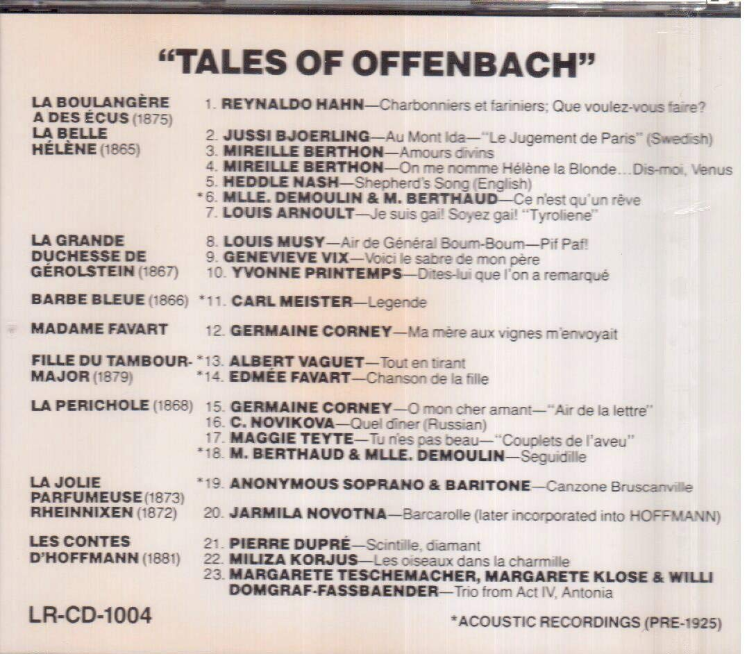 Amazoncom Tales Of Offenbach Music